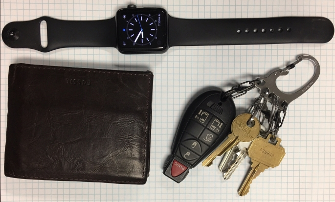 Every Day Carry (EDC) Wallet Watch and Keys